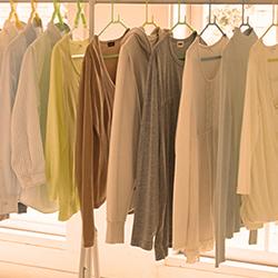 部屋干しで作業服やユニフォームや洗濯物を均等に早乾きする方法